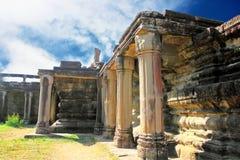 Front porch Angkor wat Stock Image