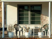 Front Porch in an Apartment Condominium Complex Stock Images