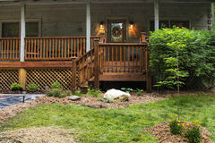 Front Porch on Cabin Stock Photography