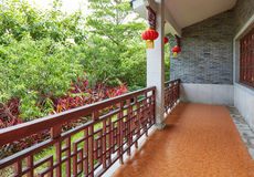 Front porch Asian Chinese classic house China Stock Photo