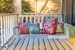 Front Porch coberto de neve fotos de stock