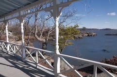 Front Porch em Connecticut Fotografia de Stock Royalty Free