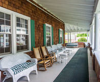 Front porch historic hotel Stock Images
