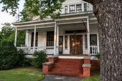 Front porch of a home in Prattville`s historic district royalty free stock photography