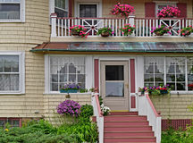 Front porch of house Stock Images