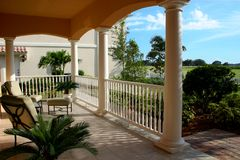 Front Porch Looking Out Royalty Free Stock Photo