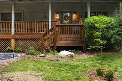 Front Porch na cabine Fotografia de Stock