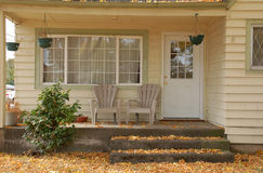 Front porch in october Stock Photos