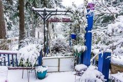 Front Porch Snow 2 imagens de stock royalty free
