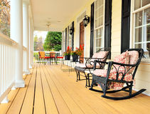 Front Porch of Traditional Home Royalty Free Stock Images