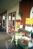 Front porch of Vermont Country Store in Rockingham, VT royalty free stock image