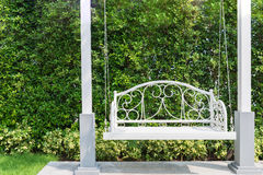 Free Front Porch With A White Porch Swing At Garden In House. Stock Photography - 88111122