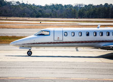 Front of Private Jet on Runway Royalty Free Stock Photo