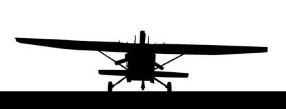 Front profile silhouette of landing X328 Atlas Angel Turbine sky Royalty Free Stock Photography