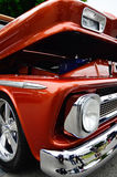 Front quarter shot of rich brown-red metallic lowrider Royalty Free Stock Images