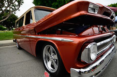 Front quarter shot of rich brown-red metallic lowrider Stock Photography