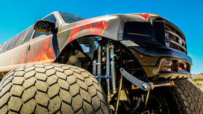 Front Quarter of a Stretched Monster Truck Royalty Free Stock Images