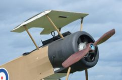 Front of RAF war plane. Front of RAF world war one plane Royalty Free Stock Photo
