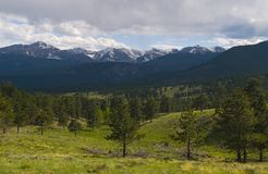 Front Range. The Front Range of the Rocky Mountains in Rocky Mountain National Park Stock Photos