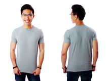 Front and rear view of Asian man Royalty Free Stock Photos