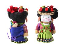 Front and rear views of a Vietnamese doll with baby Stock Photos