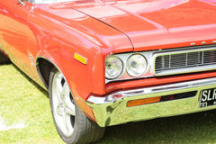 Front of red antique car Royalty Free Stock Image