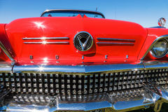 Front of a red Buick  classic car Royalty Free Stock Photo