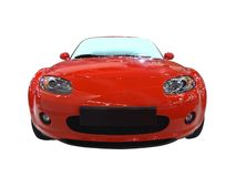 Front of red cabriolet Royalty Free Stock Photos