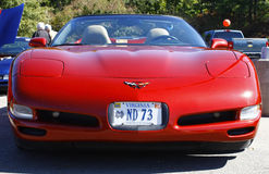Front of a red Corvette Stock Photo