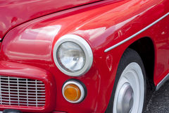 Front of red old polish car Stock Images