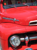 A Front of red old timer Royalty Free Stock Photos