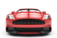 Front of a  red sport car isolated on a white background Stock Image