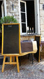 Front of restaurant with Blackboard Menus Stock Photos