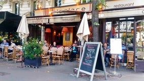 Posh restaurant in Paris stock image