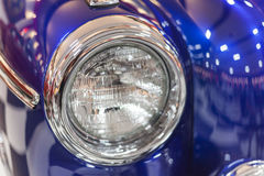 Front right of blue vintage car Stock Photos