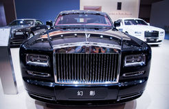 Front of Rolls-Royce Phishom. Take on the 16th Chongqing International Motor Show, June 6th-12th, 2014. There are many international famous brand companies and Royalty Free Stock Photography