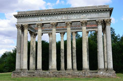 Front of Roman Folly Royalty Free Stock Images