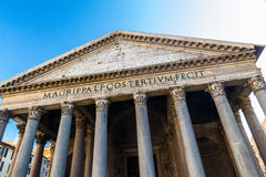 Front of the Roman Pantheon Royalty Free Stock Photos