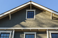 Front Roof line of an Upscale Home Stock Images