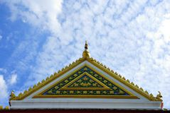 Front roof. Temple Stock Photography