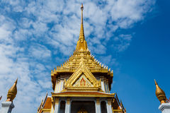 Front roof of Thai Temple Stock Photo