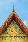 The front of roof Thailand's temple with blue sky Royalty Free Stock Images