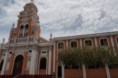 Front of rose latino cathedral Xalteva church Stock Image