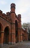 Front of Rossgarten Gates, Kaliningrad Stock Image