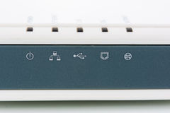 Front router network hub Stock Photo