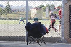 Front Row Seat Baseball Game Foto de archivo libre de regalías