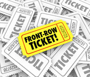Front Row Ticket Special VIP Seating Best View Close Performance Royalty Free Stock Photos