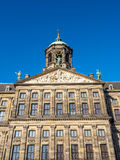 Front of Royal palace in Amsterdam Royalty Free Stock Photo