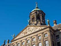 Front of Royal palace in Amsterdam Stock Photo
