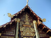The gable of Royal Pavilion Hall, Chiang Mai, Thai Royalty Free Stock Photography